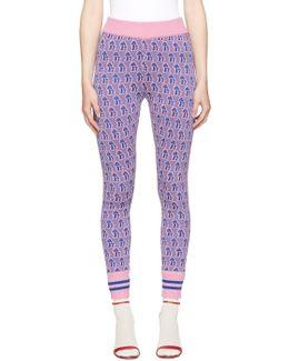 Pink & Blue Mushroom Leggings