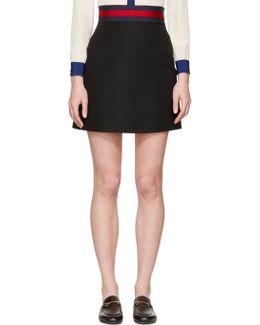 Black Web Ribbon Miniskirt