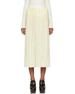 Off-white Wool Plissé Skirt