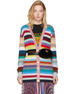Multicolor Rainbow Cardigan