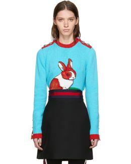 Multicolor Intarsia Rabbit Sweater