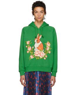 Green Oversized Rabbit Hoodie