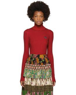 Red Fine Wool Turtleneck