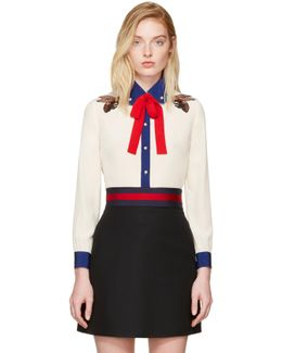Off-white Silk Bee Blouse