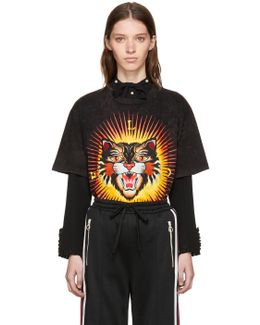 Black 'modern Future' Tiger T-shirt