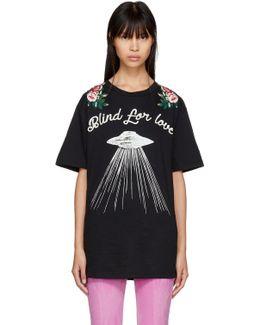Black 'blind For Love' Ufo T-shirt
