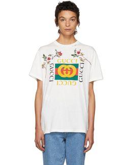White Floral Logo T-shirt