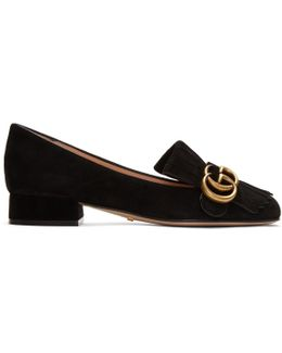 Black Gg Marmont Loafers