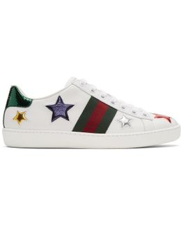 White Stars Ace Sneakers