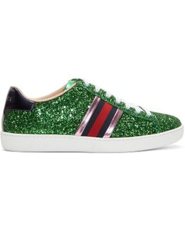 New Ace Glitter-covered Trainers