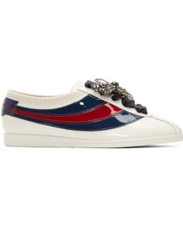 Off-white Patent Sylvie Web Competition Sneakers