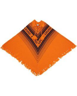 Orange & Blue 'loved' Poncho