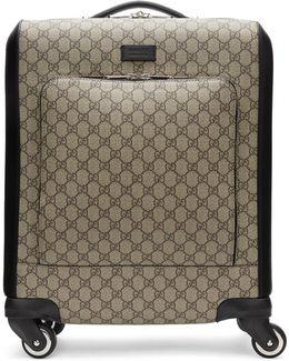 Beige Gg Supreme Suitcase
