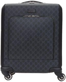 Black Mini Gg Supreme Trolley Suitcase