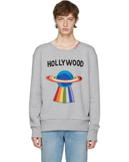 Grey 'hollywood' Saturn Sweatshirt
