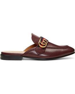 Burgundy Gg Kings Slip-on Loafers