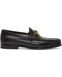 Black Bee Horsebit Loafers
