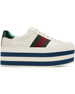 White Ace Platform Sneakers