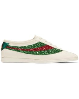 Off-white Glitter Falacer Sneakers