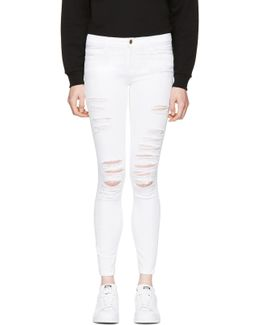 White Le Color Ripped Jeans