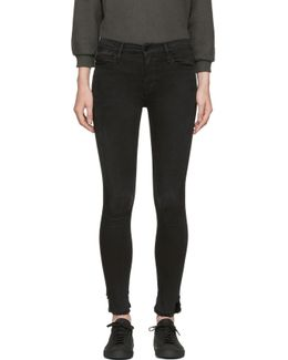 Black 'le High Skinny' Jeans