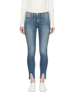 Blue 'le High Skinny' Jeans