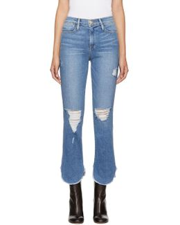 Blue 'le High Straight' Jeans
