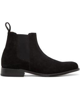 Black Suede Declan Boots