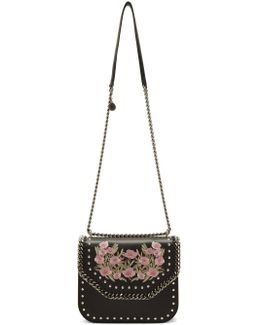 Black Floral Falabella Box Bag