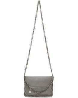 Grey Mini Falabella Fold Over Bag