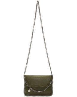 Green Mini Falabella Fold Over Bag