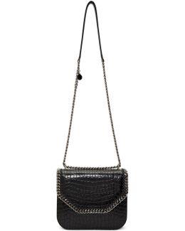 Black Croc Big Falabella Box Bag