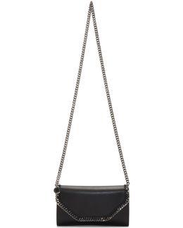 Black Falabella Box Clutch Bag