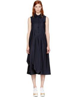 Navy Willow Shirt Dress