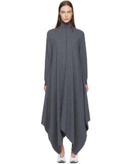 Grey Wool Turtleneck Dress