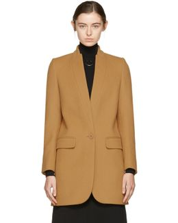 Tan Bryce Single-button Coat