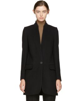 Black Bryce Single-button Coat