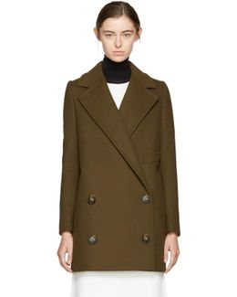 Khaki Edith Double-breasted Coat