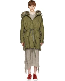 Green Gail Hooded Coat