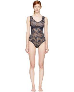 Navy Stella Soft Lace Bodysuit
