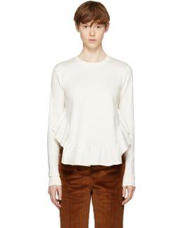 Ivory Frills Crewneck Sweatshirt