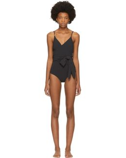 Black Timeless Basics Wrap Swimsuit