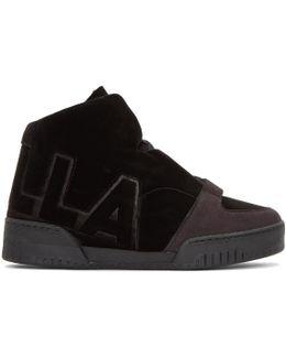 Black Velvet 'stella' High-top Sneakers