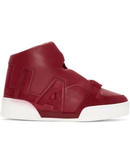 Red 'stella' High-top Sneakers