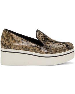 Brown Snake Binx Platform Sneakers