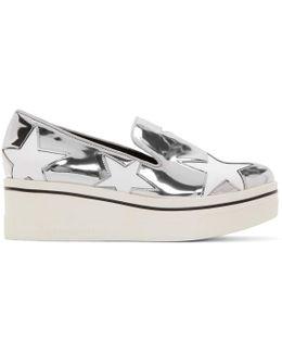 Silver Binx Star Platform Sneakers