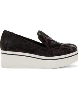 Grey Python Binx Platform Sneakers