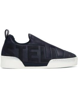 Navy 'stella' Slip-on Sneakers