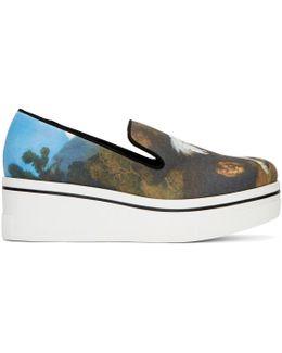 Multicolor Horse Painting Binx Slip-on Sneakers