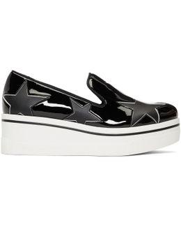 Black Star Binx Platform Slip-on Sneakers